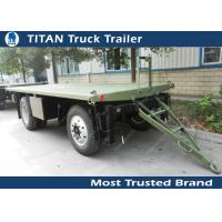 Cheap High strength low alloy steel draw bar trailer with 1 axles , 2 axles , 3 axles optional for sale
