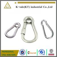 Cheap good price 6mm Stainless Steel Locking EyeLet Carbine Hook made in china for sale
