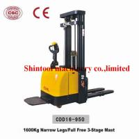 Buy cheap 1600kg Electric Pallet Stacker With 600mm Load Center & 4500mm Standard Lift from wholesalers