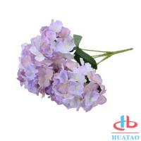 Cheap PE Artificial Hydrangea Flowers For Wedding / Parties Decoration for sale