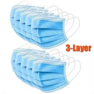 Cheap Health Protective 3 Ply Non Woven Face Mask dustproof For Blocking Dust Air for sale