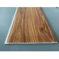 Cheap Waterproof Wooden Color Decorative PVC Panels Easy Cleaning And Maintenance for sale
