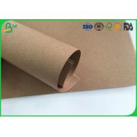 Cheap Grade AAA Kraft Brown Paper Roll , Test Liner Paper For Making Corrugated Box for sale