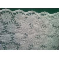 Cheap 80cm organza Embroidered Lace Fabric Cotton for wedding dresses for sale