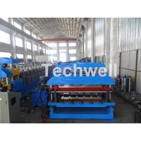 Cheap 18 Forming Stations Roof Panel Roll Forming Machine , Double Sheet Roll Forming Machine for sale