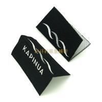 Buy cheap Centrefold Woven Clothing Labels Low Minimum With Logo For Damask Textile from wholesalers