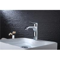 Cheap Square Bathroom Sink Faucets , Single Handle Basin Sink Bathroom Vanity Faucets for sale