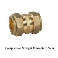 Cheap compression fitting straight 15mm for copper pipe for sale