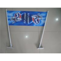 Cheap Double Sides Shop Front Flags , End Sign Flags 80cm Length Pole for sale
