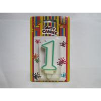 Fancy Number Birthday Candles Paraffin Wax Material Environmental friendly