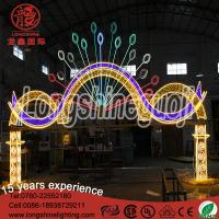 Cheap 10M LED led wedding arch Christmas decoration 3D motif door light with DMX for sale