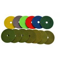 Cheap 4 Wet Diamond Resin Polishing Pads For Marble / Synthetic Stone High Gloss Polishing for sale