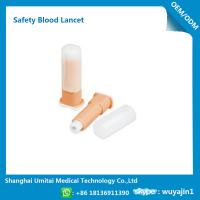 Easy Handling Disposable Blood Lancet For Blood Sugar Less Pressure Powder for sale
