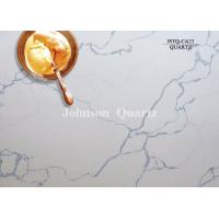 Cheap 3m Length 2cm / 3cm Thickness Quartz Stone Countertops Smoothness Compact Structure for sale