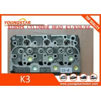 China Cast iron diesel engine K3 K5 K6 cylinder head for Kubota engine truck & excavator on sale