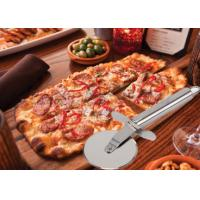 Cheap Custom SS304 Stainless Steel Kitchen Tools Pizza Cutter With PP Wooden Handle wholesale