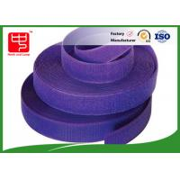 Cheap Purple strong hook and loop adhesive tape hook and loop tape roll for garments for sale