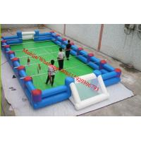 Cheap inflatable football pitch inflatable football field  soccer field with iron / metal for sale