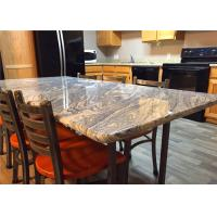 Cheap 37 X 96 Granite Stone Kitchen Countertops With Bullnose Edges , Grey Color for sale