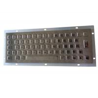 Cheap Panel mount stainless steel keyboard for military portable PC working -20 Celsius degree for sale