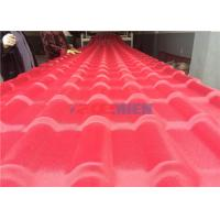 Cheap PVC Plastic Glazed Roofing Tile Making Machine , House Roof Sheet Forming Machine for sale