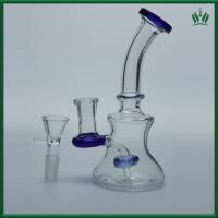 Buy cheap Showerhead Perc Glass Smoking Water Pipe Bubbler 150g 8 Inches Blue Color from wholesalers