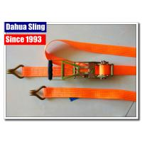 Cheap Rubber Handle 2 Inch Ratchet Straps With Flat Hooks Mini Tie Down Straps for sale