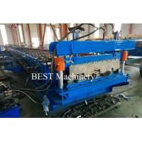 China Metal Sheet Floor Decking Roofing Roll Forming Machines with Embossing Rollers Design on sale