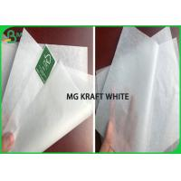 Cheap Custom Size A1 Sheet 28gsm 30gsm MG White Kraft Paper Roll For sandwich & Fast Food for sale