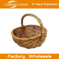 China Factory wholesal 100% nature handcraft rattan wicker picnic basket-Food Save Natural Wicker Bread Basket on sale