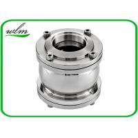China Three Pieces Sanitary Flanged Check Valve / One Way Check Valve For Pure Medium on sale