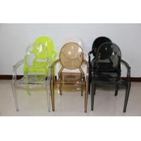 Cheap Recyclable Green Louis Ghost Chair / Commercial Arm Ghost Chair Comfortable for sale
