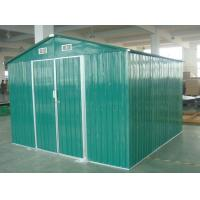 Cheap Green / White / Cream Movable 10x10 DIY Metal Shed For Workshop , Powder Coated Frame for sale