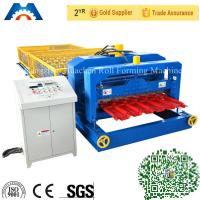 Cheap Fully Automatic Glazed Tile Roll Forming Machine Single Roofing Panel Glazed Tile Press Machine for sale