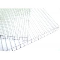 Cheap 8mm Clear Twinwall Polycarbonate Roofing Sheet  High Light Transmission for sale