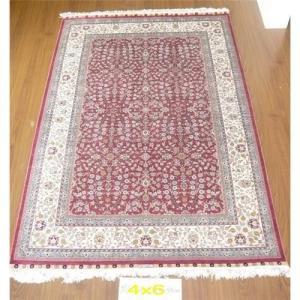 China Turkish silk carpet ,100% handmade, size: 122cmx183cm Hereke design on sale