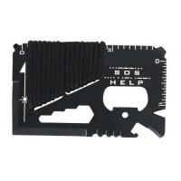 Cheap 11-in-1 multifunctional credit card survival knife camping tool for sale