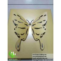 Cheap Butterfly design metal panels aluminum sheet for decoration for wall, cladding for sale