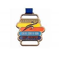 China Customized Medal Sports Trophies Medal Awards Metal Copper Football Medal With Ribbon on sale