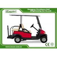 Buy cheap Electric Golf Carts With 17A Off Board Charger 4 Seaters Red/Trojan Battery from wholesalers