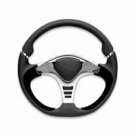 Cheap Steering Wheel for Cars, Available in Black and 350mm Diameter for sale