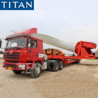 Cheap Wind Turbine Tower Transport with Balde Rotor Adapter Windmill Blade Trailer for sale