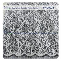 Buy cheap Cord Lace Fabric Eyelash repeat Cotton&Nylon Fabric of Wave Line from wholesalers