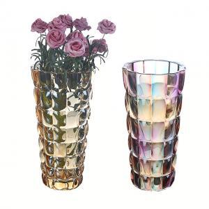 China Colorful Crystal Vase Home Decoration Vase  Flower Contatiner on sale