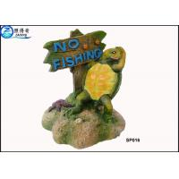 Cheap Household Eco Friendly Unusual Large Fish Tank Ornaments Decoration With Notice Signs for sale