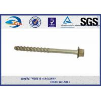 China Railway Sleeper Fixing Stainless Steel Coach Screws ISO898-1 UIC864-1 on sale