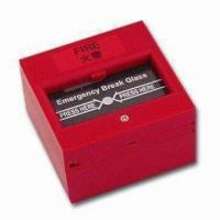 Cheap Break Glass Fire Emergency Exit Release with NO/NC Feature, Measures 86 x 86mm for sale