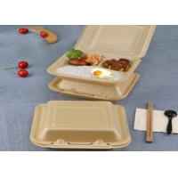 Cheap Takeaway lunch box bagasse disposable biodegradable clamshell food container for sale