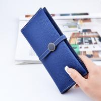 Cheap Belt Buckle Ladies Long Type Leather Clutch Wallet With Thin Body Simple Design for sale