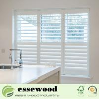 Cheap Pure White Wooden Basswood Plantation Shutters for Window for sale